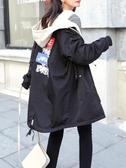店長推薦★胖MM洋氣大碼女裝春秋裝新款學生減齡200斤寬鬆顯瘦中長風衣外套