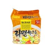 韓國 No Brand 經典辣牛肉風味拉麵(115gx5包) 【小三美日】團購/泡麵
