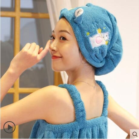 超強吸水2021新款干發帽女加厚可愛卡通包頭巾速干帽干發神器毛巾 怦然新品