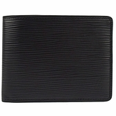 Juliet茱麗葉精品 Louis Vuitton LV M60332 Slender Epi水波紋皮革雙折短夾.黑 現貨