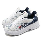 Fila 休閒鞋 J321V 白 藍 男鞋 厚底 增高鞋 透氣鞋面 運動鞋 【ACS】 1J321V133