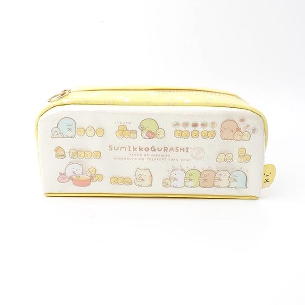日貨PVC角落生物筆袋 玉米濃湯- Norns 正版授權 鉛筆盒 文具收納 日本SAN-X玉米粒