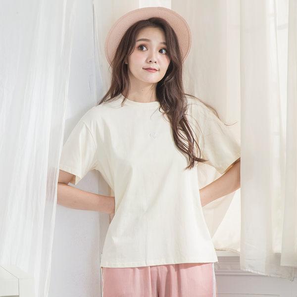 刺繡愛心棉質T-shirt(5色)