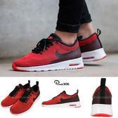 【六折特賣】Nike 休閒慢跑鞋 Wmns Air Max Thea KJCRD 黑 紅 白底 運動鞋 氣墊 女鞋【PUMP306】 718646-007