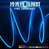 el帶邊汽車LED冷光線車內氛圍燈條夾式發光線氣氛改裝飾燈帶