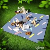 野餐墊防潮墊戶外便攜防水加厚野餐布草坪春游墊子野炊地墊ins風 伊芙莎