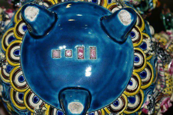 鹿港窯~台灣國寶交趾陶-居家開運商品【九龍福】茶壺◆免運費送到家