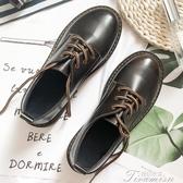 牛津鞋-英倫小皮鞋女韓版百搭秋天復古布洛克牛津鞋ins女鞋小黑鞋  提拉米蘇