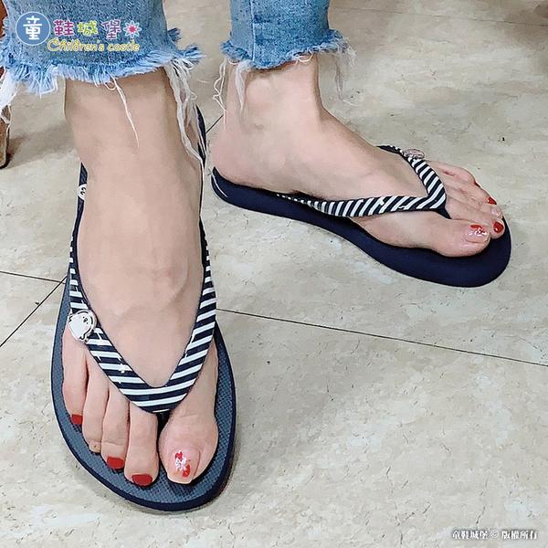 童鞋城堡-Kanahei 卡娜赫拉小動物 條紋鞋帶夾腳拖 女款-KI0553-粉 / 綠 / 藍(共三色)