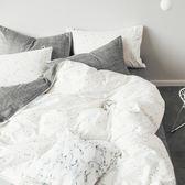 全棉四件套格子1.2m三件套床單床笠被套北歐風簡單抽象1.8米 滿899元八九折爆殺