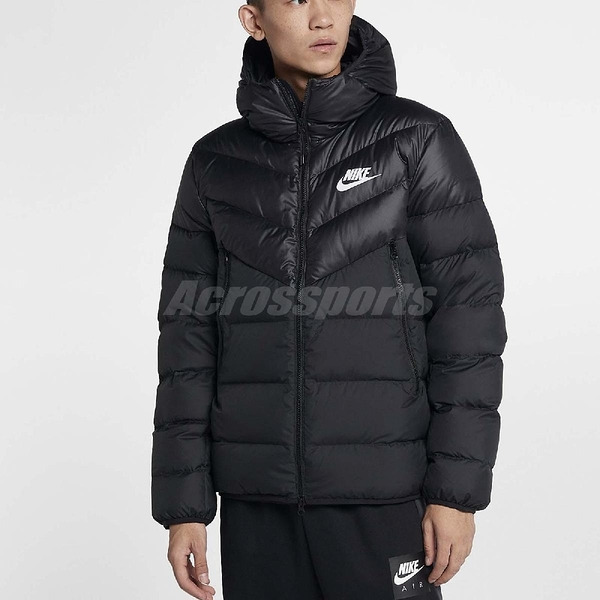 Nike 外套 NSW Down Fill Jacket Hoodie 黑 連帽 保暖 男款 羽絨外套 【ACS】 928834-010