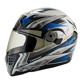 GP-5 722風速全罩可掀式安全帽-藍銀-L 【亞克】