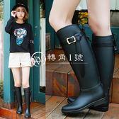 時尚雨鞋女高筒雨靴女士套鞋防滑長筒水鞋