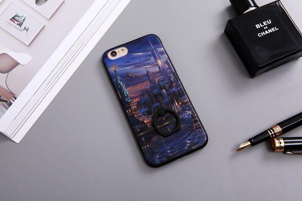 |文創現貨| iPhone 7 Plus i7 i7+ i6+ i6 i6S 6 6S 指環 手機殼 指環扣 指環支架 犀牛盾支架 紐約 自由女神