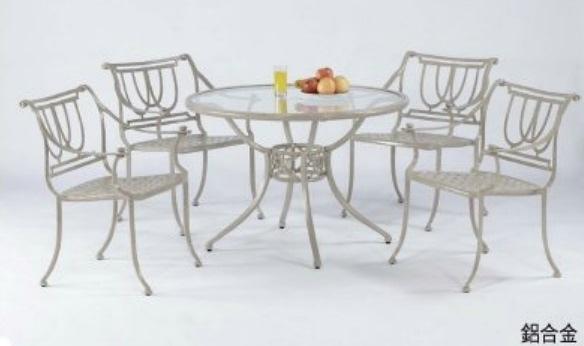 【南洋風休閒傢俱】戶外休閒桌椅系列-華克扶手桌椅組 戶外餐桌椅組 適民宿 餐廳 (#26036 #26001)