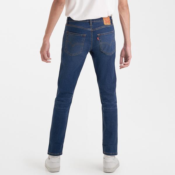 Levis 男款 上寬下窄 / 512低腰修身窄管牛仔褲 / Cool Jeans 輕彈有型 / 中藍微刷白