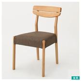 ◎實木餐椅 ALNUS LBR/BR NITORI宜得利家居