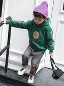 男童連帽衣衛衣秋冬韓版加厚上著小男孩潮衣【奈良優品】