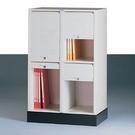 捲門式公文櫃系列-CP-6204+CP-02 二排二層+腳座