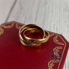 BRAND楓月 CARTIER 卡地亞 經典 18K 750 三環戒 #49 戒指 交叉戒 戒指 配件 飾品
