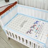 嬰兒床上用品四季通用夏天床圍三明治3D網眼夏季透氣圓床寶寶床圍igo『韓女王』