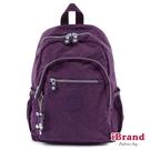 iBrand後背包 趣味派對尼龍口袋後背包-神秘紫 TGT-1318