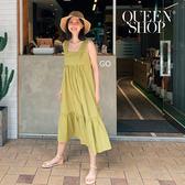 Queen Shop【01084579】下擺荷葉魚尾造型無袖洋裝 兩色售*現+預*