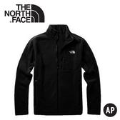 【The North Face 男 Polartec刷毛保暖外套《黑》】3VT9/刷毛外套/保暖外套/保暖中層/休閒夾克