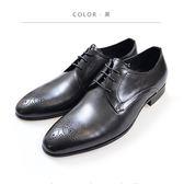 Waltz-簡約雕花紳士鞋 212197-02黑