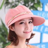 帽子女夏天防曬帽潮鴨舌帽 太陽帽防紫外線遮陽帽沙灘帽折疊棒球帽
