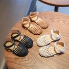 女童涼鞋 2020新款時尚兒童鞋子公主鞋包頭編織沙灘鞋夏季小鞋【快速出貨】