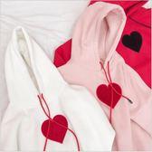 7706 新款 秋冬 套頭 連帽 加絨 衛衣 女 短款 寬鬆 粉色 軟妹 長袖 t恤