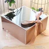 禮物盒 正方形精美高檔生日禮物盒透明亞克力水晶禮品盒ins紅色包裝空盒 布衣潮人