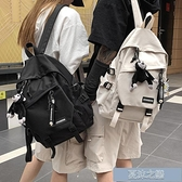 雙肩包 書包女韓版高中大容量百搭雙肩包男大學生時尚潮流風情侶背包 快速出貨