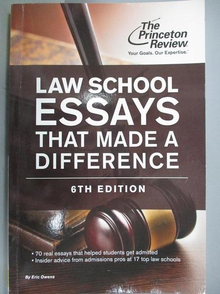 【書寶二手書T3/字典_QJV】Law School Essays That Made a Difference_Owe