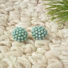 耳環 甜蜜粉藍糖果球 耳針 i917ღ...
