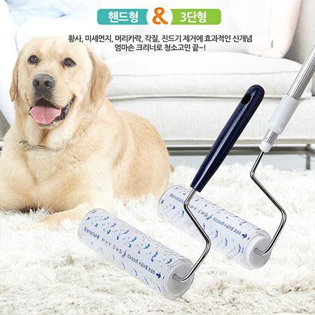 韓國 mama hands 水洗式多用途清潔滾輪(加長手把) 清潔 毛髮 灰塵 居家