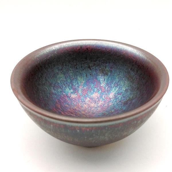 曜變紫藍金天目釉中茶杯【嚴選版】