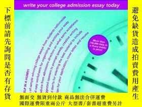 二手書博民逛書店One-hour罕見College Application EssayY255562 Jan Melnik J