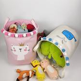 卡通毛球玩具收納桶兒童臟衣簍衣物儲物筐寶寶【聚寶屋】