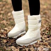 新款時尚加厚軟底防水防滑保暖雪地靴女毛毛中筒短靴滑雪地鞋 茱莉亞嚴選時尚