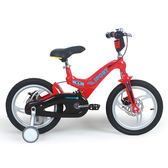 寶貝樂嚴選 16吋超輕量鎂合金前後碟煞避震腳踏車(打氣胎)-紅(BTSX1632R)