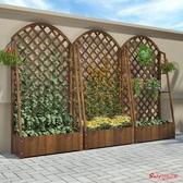 爬藤架 庭院裝飾室外防腐木植物爬藤架支架戶外陽台花園置物攀爬網格花架T
