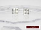 585K(14K)金 義大利進口  白K金 配搭 蘇聯美鑽 時尚簡約 造型 耳釘 耳環