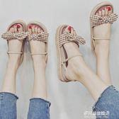 網紅同款羅馬涼鞋女夏平底學生新款百搭韓版港風復古chic軟妹 多莉絲旗艦店