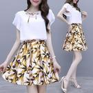 兩件式洋裝 碎花連身裙女夏裝洋氣減齡裙裝...