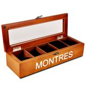 高檔實木質5只裝天窗手錶盒收納盒收藏盒機械錶展示盒簡約錶盒子