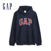 Gap男裝 Logo棉質連帽休閒上衣 567861-海軍藍