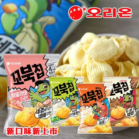 韓國 ORION 好麗友 烏龜玉米脆片 80g 玉米濃湯 肉桂 鮮蝦 餅乾 濃湯 玫瑰鹽 烏龜餅乾 脆餅 烏龜餅