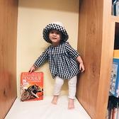 薄棉長袖襯衫連衣裙 黑白格子娃娃裝 連身洋裝  橘魔法 童洋裝Baby magic 現貨 兒童 童裝 女童